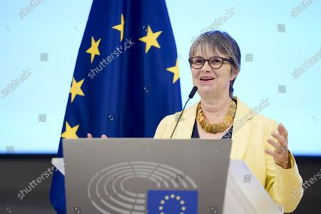 Stock Picture of Molly Scott Cato. Brexit - Farewell ceremony for departing British MEPs