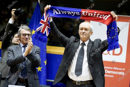 David Sassoli and Richard Corbett. S&D event for British MEPs ' It's not goodbye it's au revoir '