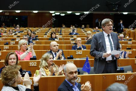 Guy Verhofstadt during European Parliament Plenary session - Withdrawal Agreement of the United Kingdom of Great Britain and Northern Ireland from the European Union and the European Atomic Energy Community