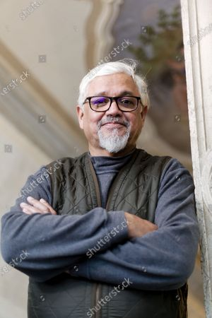 Editorial picture of Writer Amitav Ghosh photoshoot, Venice, Italy - 29 Jan 2020