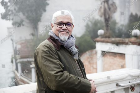 Editorial image of Writer Amitav Ghosh photoshoot, Venice, Italy - 29 Jan 2020