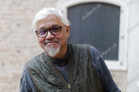 Editorial photo of Writer Amitav Ghosh photoshoot, Venice, Italy - 29 Jan 2020