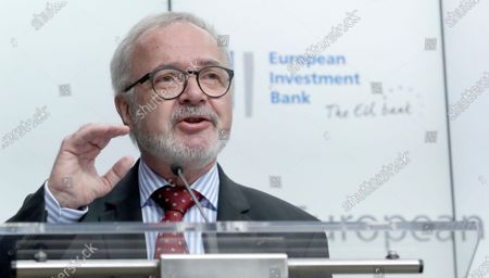 President of the European Investment Bank (EIB), Werner Hoyer gives the EIB annual press conference in Brussels, Belgium, 30 January 2020. Hoyer presented the EIB Group 2019 results and the 2020 outlook.