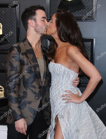 Stock Picture of Kevin Jonas and wife Danielle Deleasa