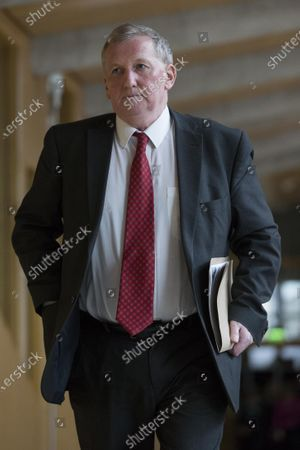 Scottish Parliament First Minister's Questions - Alex Rowley makes his way to the Debating Chamber.
