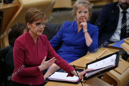 Editorial picture of Scottish Parliament First Minister's Questions, The Scottish Parliament, Edinburgh, Scotland, UK - 30 Jan 2020