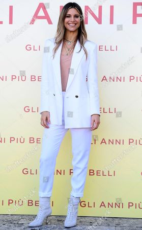 Nicoletta Romanoff poses during a photocall for 'Gli anni piu belli' (lit.: The most beautiful years) in Rome, Italy, 30 January 2020. The movie opens in Italian theaters on 13 February.