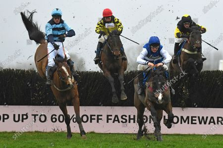 Stock Image of Winner of The John Honeyball Memorial Novices' Handicap Chase  Ibleo ridden by Charlie Deutsch and trained by Venetia Williams during Horse Racing at Wincanton Racecourse on 30th January 2020