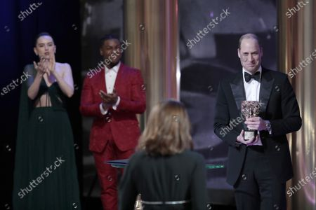 Exclusive - Prince William, John Boyega and Daisy Ridley with Kathleen Kennedy - BAFTA Fellowship