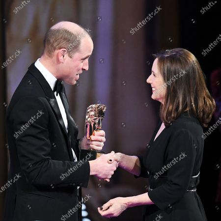 Exclusive - Prince William and Kathleen Kennedy - BAFTA Fellowship