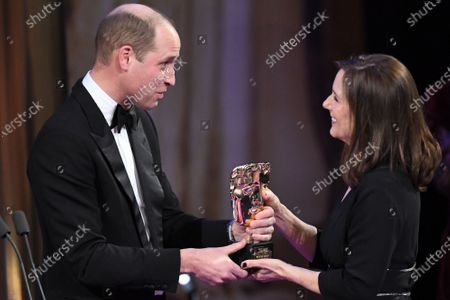 Stock Image of Exclusive - Prince William and Kathleen Kennedy - BAFTA Fellowship