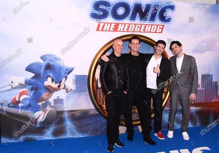 L-R: Neal Moritz, Jim Carrey, Jeff Fowler and Ben Schwartz