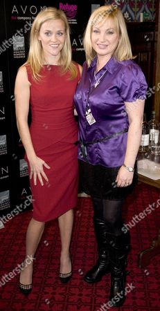 Reese Witherspoon and Wendy Turner Webster, domestic violence survivor