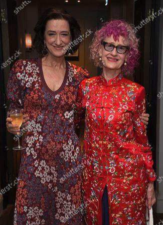 Haydn Gwynne and Pippa Markham