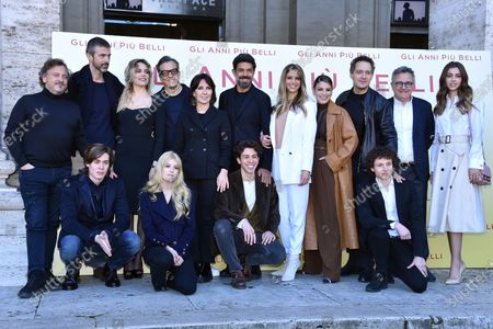 Editorial image of 'The Most Beautiful Years' film photocall, Rome, Italy - 30 Jan 2020