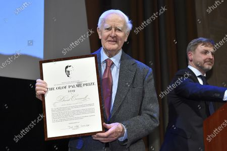 Awarded to author David Cornwell pseudonym John Le Carre at a ceremony in the Concert Hall Grünewaldsalen