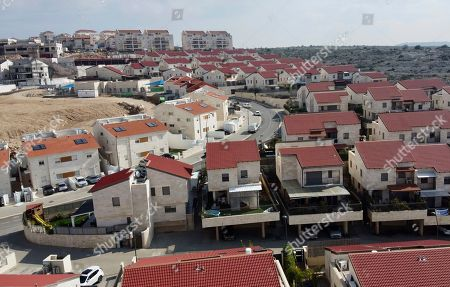 A view of the Jewish West Bank settlement of Ari'el. Israel has vowed to quickly annex large parts of the occupied West Bank after being given a green light by President Donald Trump, whose newly unveiled Mideast initiative heavily favors Israel and has been rejected by the Palestinians. But the move raises complex legal questions