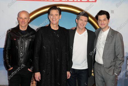 Neal Moritz, Jim Carrey, Jeff Fowler and Ben Schwartz