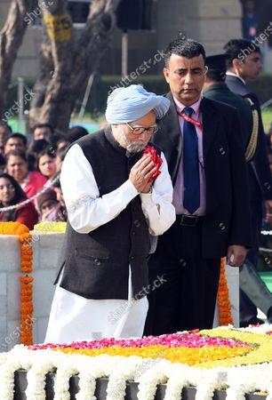 Editorial image of Martyrs' Day ceremony at the Mahatma Gandhi memorial, New Delhi, India  - 30 Jan 2020