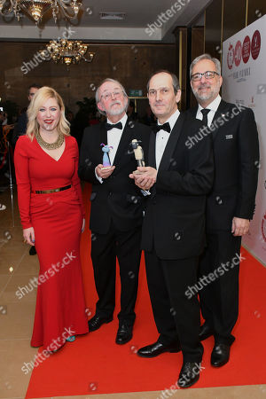 Anna Smith, Peter Lord, David Sproxton and Rich Cline