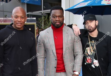 Dr Dre, 50 Cent and Eminem