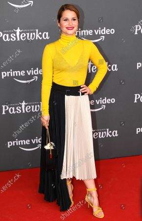 German-Brasilian actress Cristina do Rego poses on the red carpet for the premiere of the tenth season of 'Pastewka', in Berlin, Germany, 30 January 2020. Pastewka is a German television sitcom that ran initially from 2005 to 2014. German actor Bastian Pastewka stars as a fictionalized version of himself.