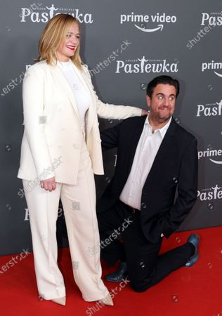 Bastian Pastewka (R) and actress Sonsee Neu pose on the red carpet for the premiere of the tenth season of 'Pastewka', in Berlin, Germany, 30 January 2020. Pastewka is a German television sitcom that ran initially from 2005 to 2014. German actor Bastian Pastewka stars as a fictionalized version of himself.