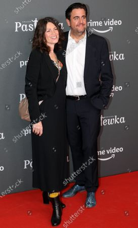 Bastian Pastewka and actress Sabine Vitua pose on the red carpet for the premiere of the tenth season of 'Pastewka', in Berlin, Germany, 30 January 2020. Pastewka is a German television sitcom that ran initially from 2005 to 2014. German actor Bastian Pastewka stars as a fictionalized version of himself.