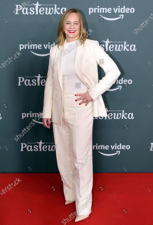 Sonsee Neu poses on the red carpet for the premiere of the tenth season of 'Pastewka', in Berlin, Germany, 30 January 2020. Pastewka is a German television sitcom that ran initially from 2005 to 2014. German actor Bastian Pastewka stars as a fictionalized version of himself.