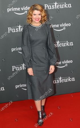 German moderator Anke Engelke poses on the red carpet for the premiere of the tenth season of 'Pastewka', in Berlin, Germany, 30 January 2020. Pastewka is a German television sitcom that run initially from 2005 to 2014. German actor Bastian Pastewka stars as a fictionalized version of himself.