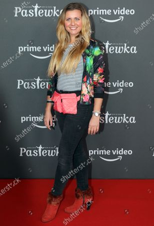 Jessica Boehrs poses on the red carpet for the premiere of the tenth season of 'Pastewka', in Berlin, Germany, 30 January 2020. Pastewka is a German television sitcom that ran initially from 2005 to 2014. German actor Bastian Pastewka stars as a fictionalized version of himself.