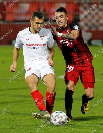 Editorial photo of Mirandes vs Sevilla, Burgos, Spain - 30 Jan 2020