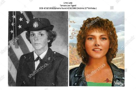 This undated military photo and artist rendering by the DNA Doe Project provided by the Oklahoma County, Okla., Sheriff's Office shows Tamara Lee Tigard. Oklahoma County Sheriff's Capt. Bob Green said, that DNA testing and dental records were used to determined a body discovered in 1980 in Jones, Okla., is that of Tigard, who was last known to have lived in Las Vegas