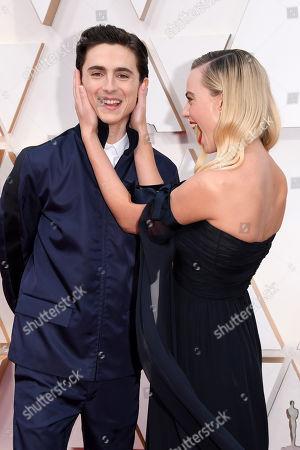 Timothee Chalamet and Margot Robbie