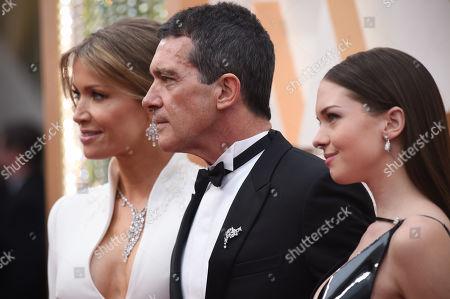Nicole Kimpel, Antonio Banderas and Stella Banderas
