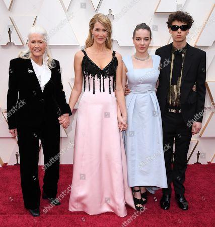 Stock Picture of Diane Ladd, Laura Dern, Ellery Harper and Jaya Harper