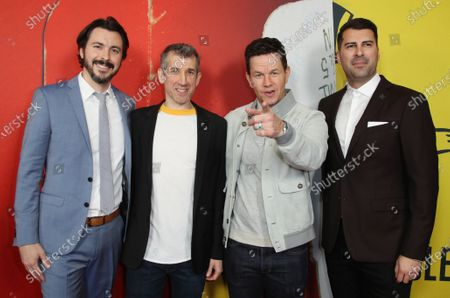 Stock Image of Brian Lazarte, Archie Gips, Mark Wahlberg and James Lee Hernandez