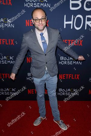 """Raphael Bob-Waksberg attends the """"BoJack Horseman"""" Final Episodes Photo Call at The Egyptian Theatre Hollywood, in Los Angeles"""
