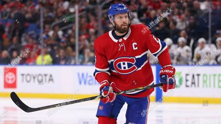 Montreal Canadiens defensman Shea Weber (6) skates during the second period of an NHL hockey game against the Buffalo Sabres, in Buffalo, N.Y
