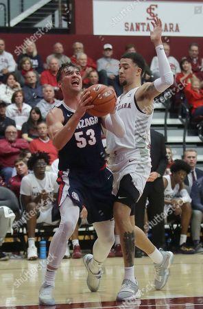 Editorial photo of Gonzaga Basketball, Santa Clara, USA - 30 Jan 2020