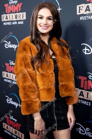 Stock Image of Musical artist Lela Brown arrives for the premiere of Disney's film 'Timmy Failure: Mistakes Were Made' at El Capitan Theater in Hollywood, California, USA, 30 January 2020. The film will be released on Disney+ on 25 January.