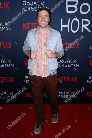 """Stock Image of Mike Hollingsworth attends the """"BoJack Horseman"""" Final Episodes Photo Call at The Egyptian Theatre Hollywood, in Los Angeles"""