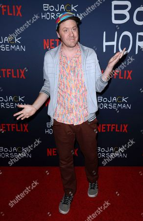 """Mike Hollingsworth attends the """"BoJack Horseman"""" Final Episodes Photo Call at The Egyptian Theatre Hollywood, in Los Angeles"""