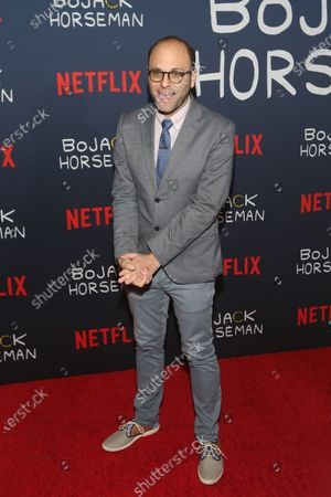 American comedian and creator Raphael Bob-Waksberg poses on the red carpet prior to the premiere of the Bojack Horseman final episodes at the Egyptian Theater in Los Angeles, California, USA, 30 January 2020.