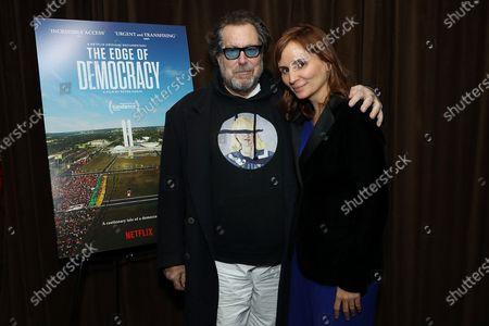 Julian Schnabel and Petra Costa
