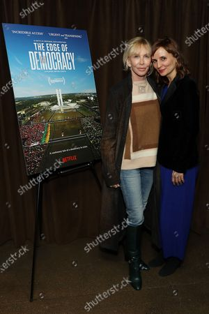 Stock Picture of Trudie Styler and Petra Costa