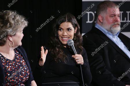 Bonnie Arnold, America Ferrera and Dean DeBlois