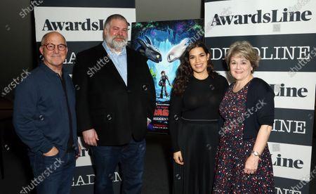 Brad Lewis, Dean DeBlois, America Ferrera and Bonnie Arnold