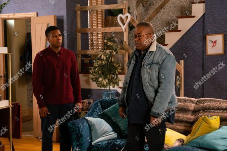 Ep 10010 Wednesday 19th February 2020 - 1st Ep Over breakfast, James Bailey, as played by Nathan Graham, finally plucks up the courage and tells Ed Bailey, as played by Trevor Michael Georges, that he's gay. Ed does his best to take the news in his stride but it's clear he's struggling and hurt to realise Aggie and Michael already knew. Will he accept this news?