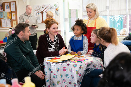 Ep 10009 Monday 17th February 2020 - 2nd Ep Fiz Stape, as played by Jennie McAlpine, Tyrone Dobbs, as played by Alan Halsall, Hope Stape, as played by Isabella Flanagan, and Ruby, as played by Macy Alabi, meet up with Jade, as played by Lottie Henshaw, at the craft workshop. When Hope makes it clear that she prefers Jade to Fiz, Fiz does her best to mask her hurt.